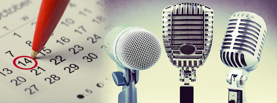 Speaking Schedule Banner - SU 1754988